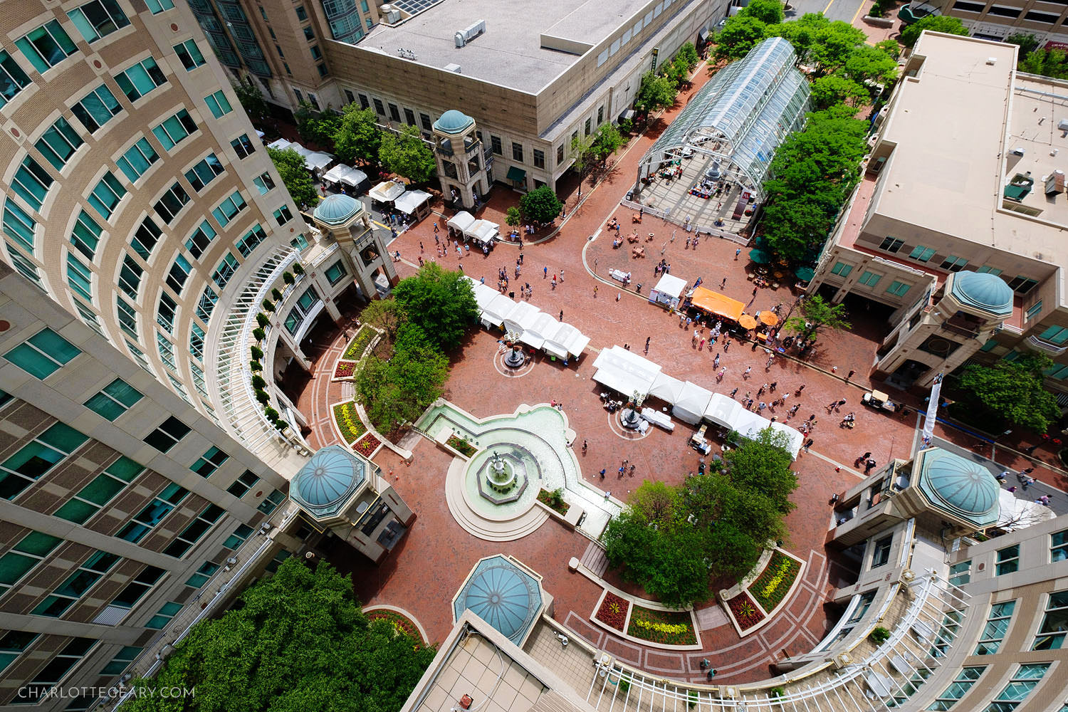 Aerial view of Reston Town Center