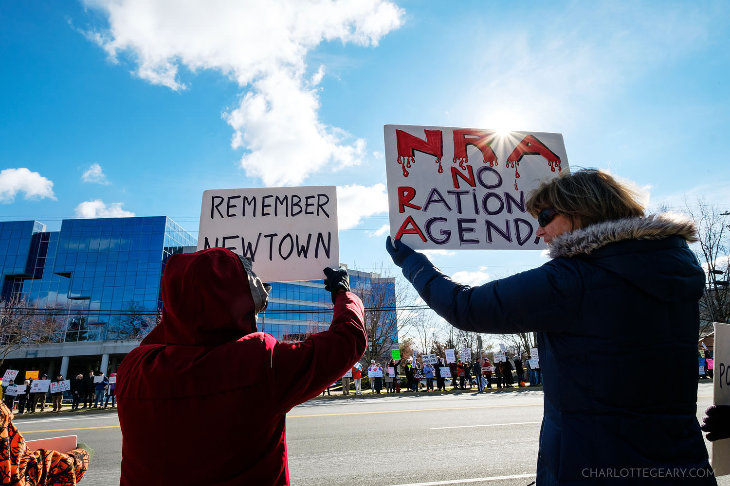 Protest at the NRA Headquarters after the Parkland school shooting (Fairfax, Virginia)
