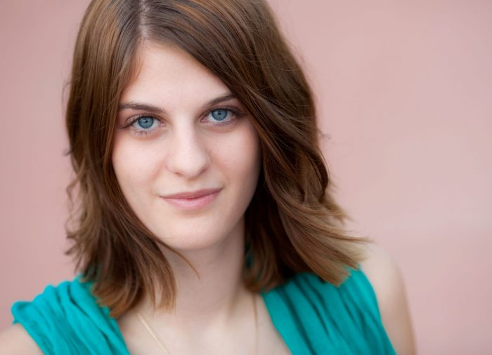 Headshot with pink background