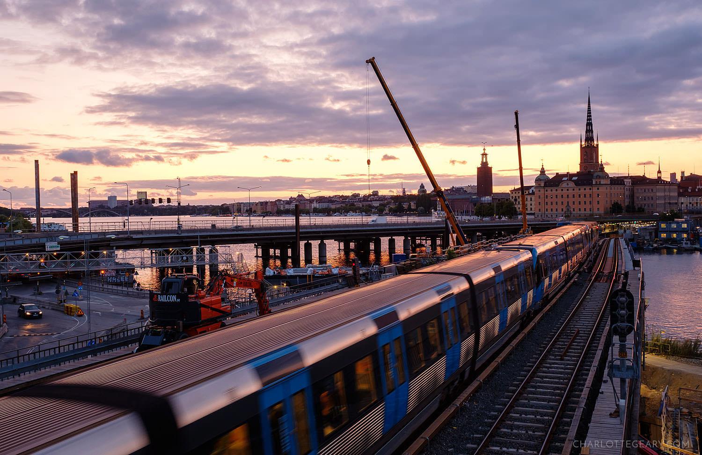 Stockholm metro train