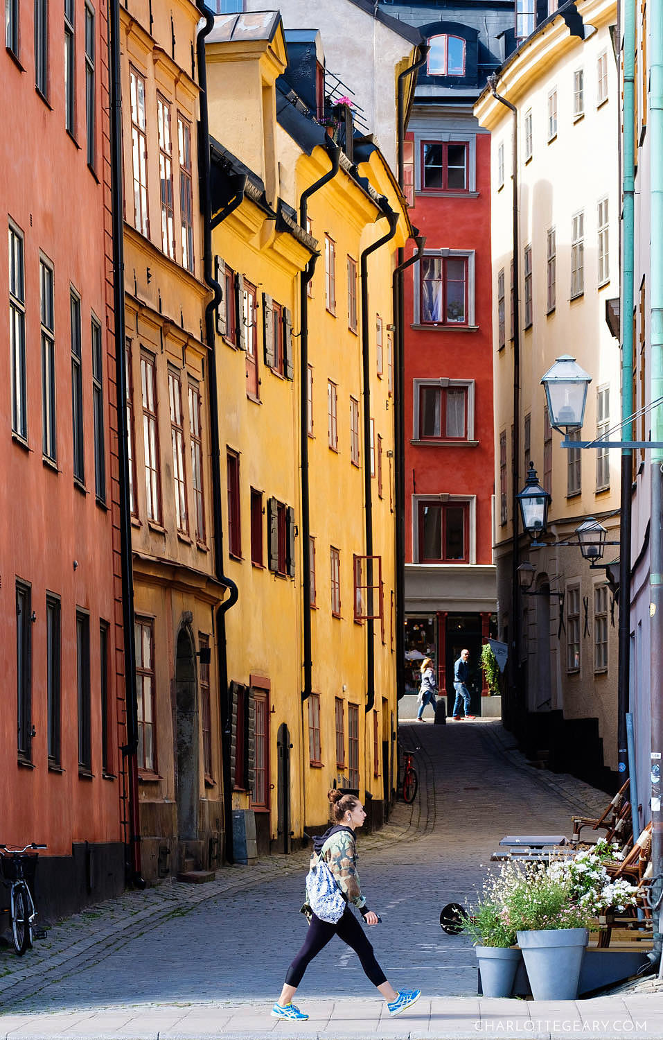 Colorful streets of Gamla Stan in Stockholm
