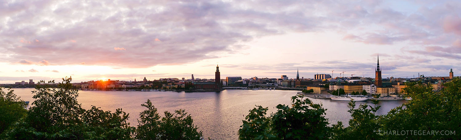 Stockholm skyline, as seen from from Monteliusvägen