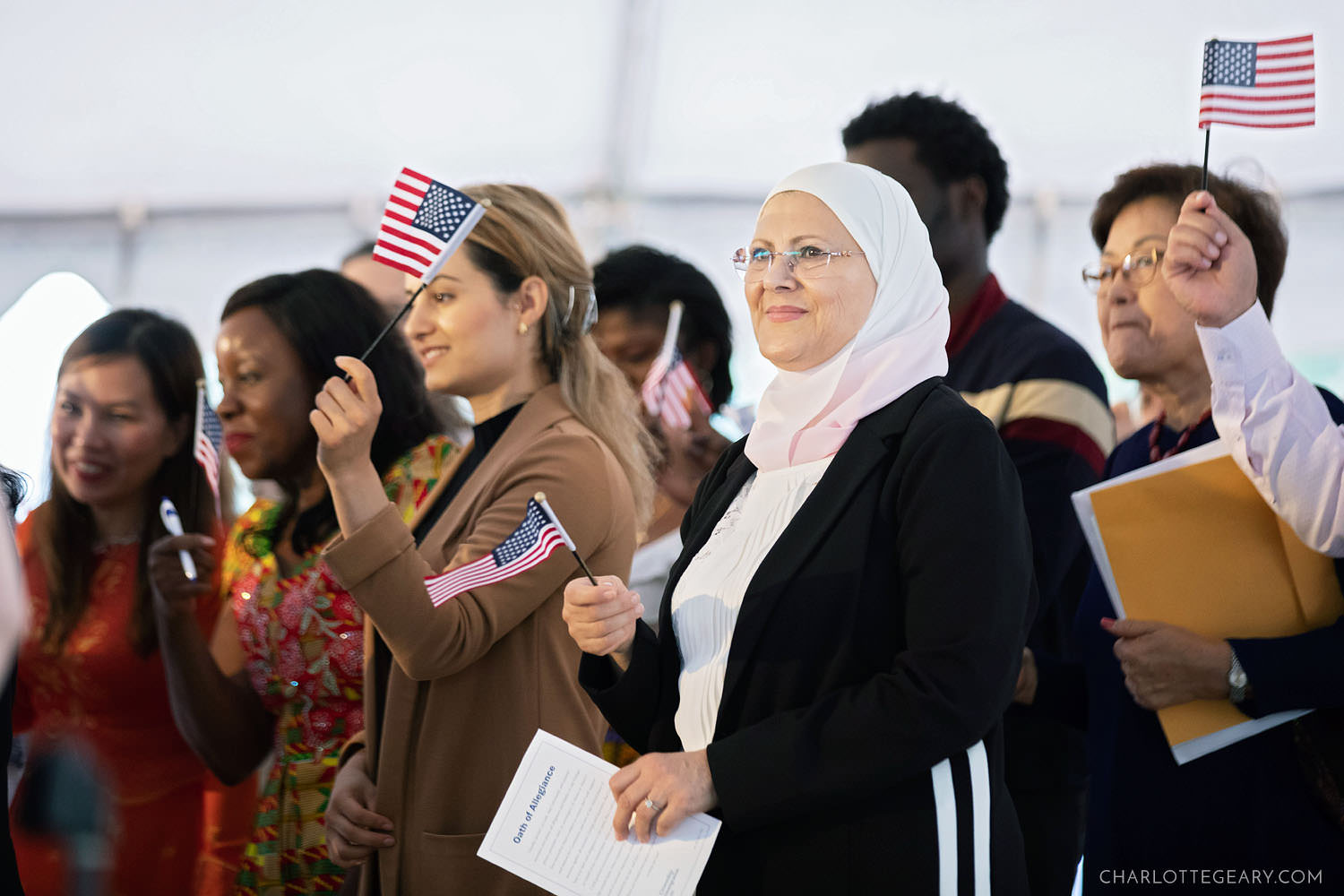 US naturalization ceremony